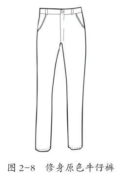 修身原色牛仔裤