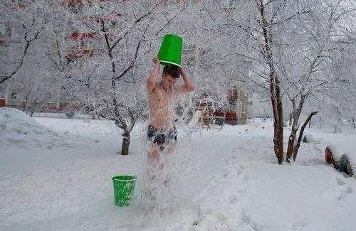 冬天冷水澡