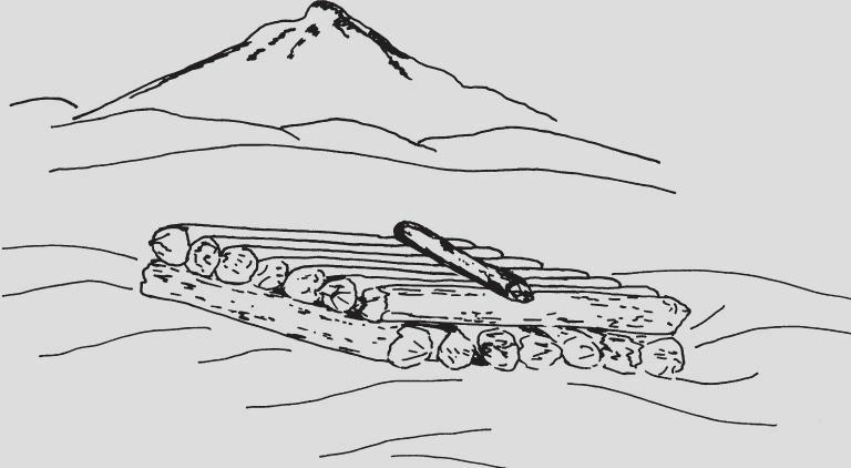 雪中的平台和支架