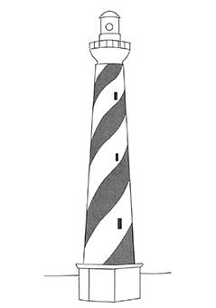 灯塔可以帮助海员避开障碍物