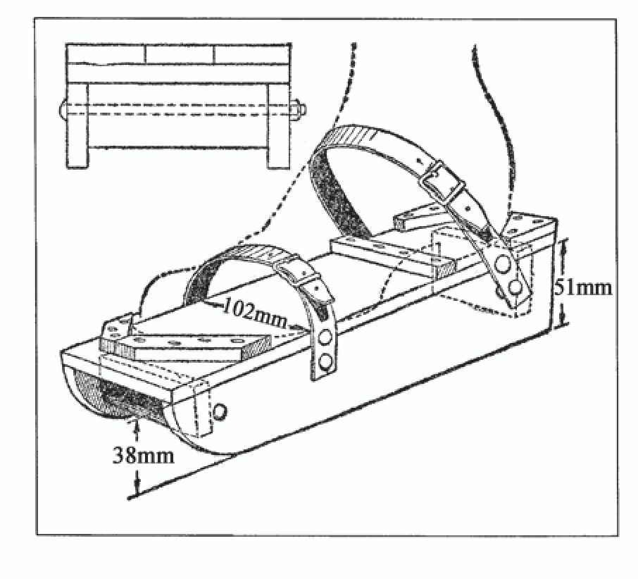 木质滑冰鞋可以代替冰刀并防止脚踝扭伤