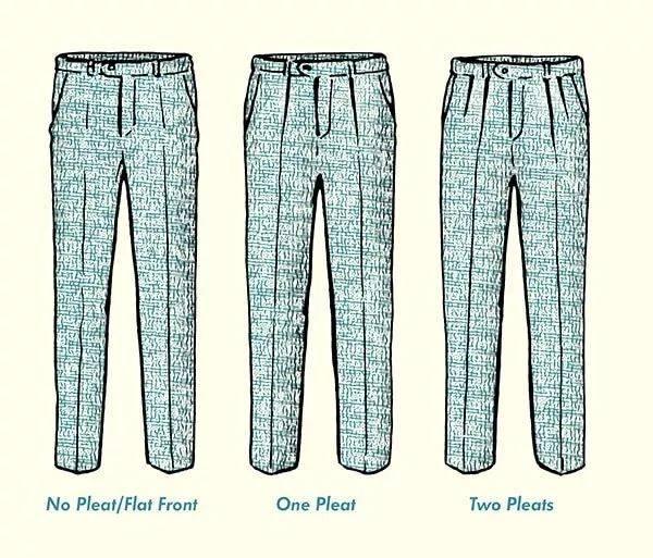裤褶的分类