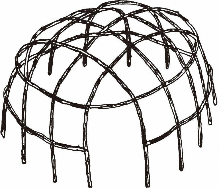 圆顶棚屋框架