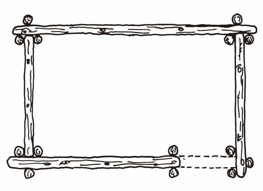 如果不使用槽口建造木屋,就需要使用垂直木杆来支撑墙壁