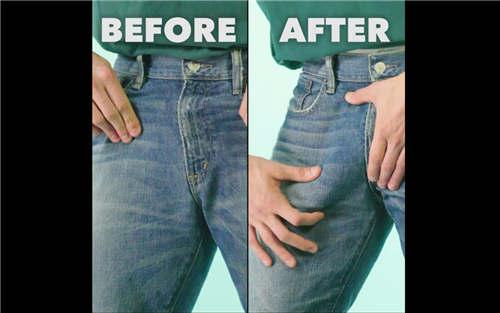 【SuperDeluxe】简单DIY让男生穿牛仔裤时更大更性感