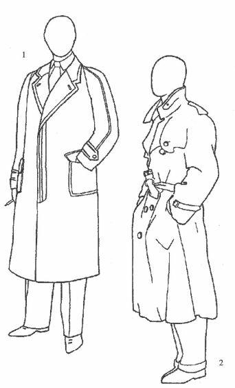 1.拉格伦大衣  2.军用风衣
