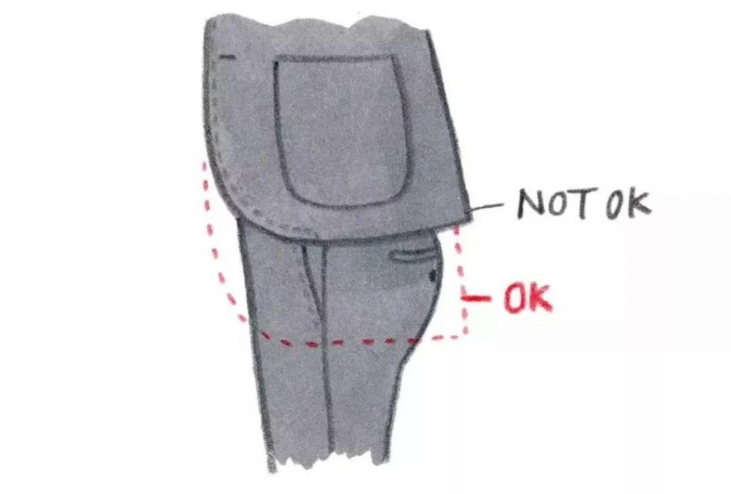 不要穿太短的西装
