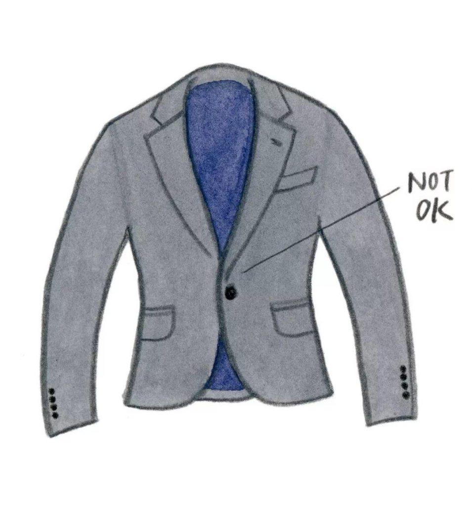 不要选择单粒扣西装成衣