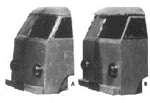 风洞测试使用的两种车头