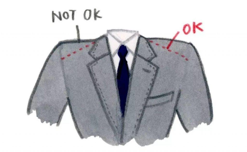不要选择垫肩太厚的西装