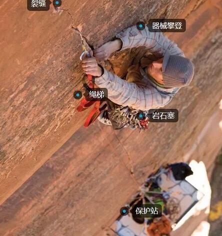 器械攀登 aid climbing