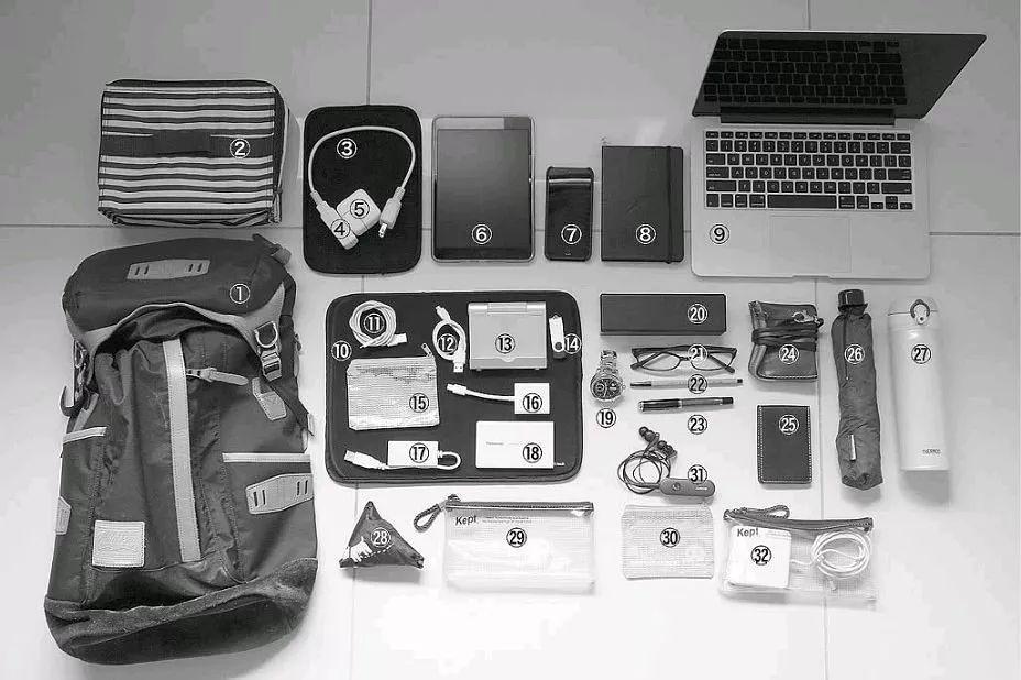 随身携带的工作物品